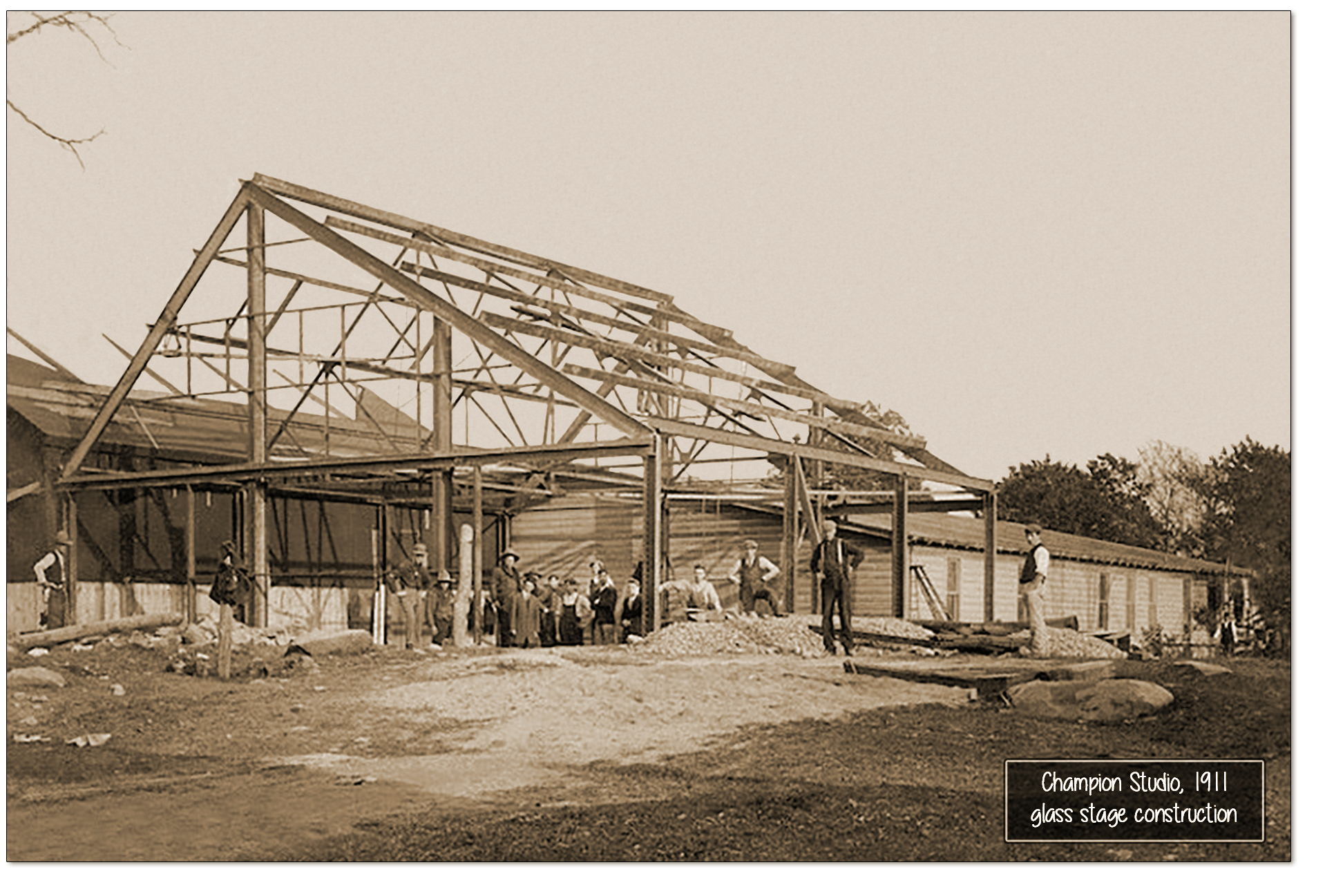 Champion glass stage construction 1911