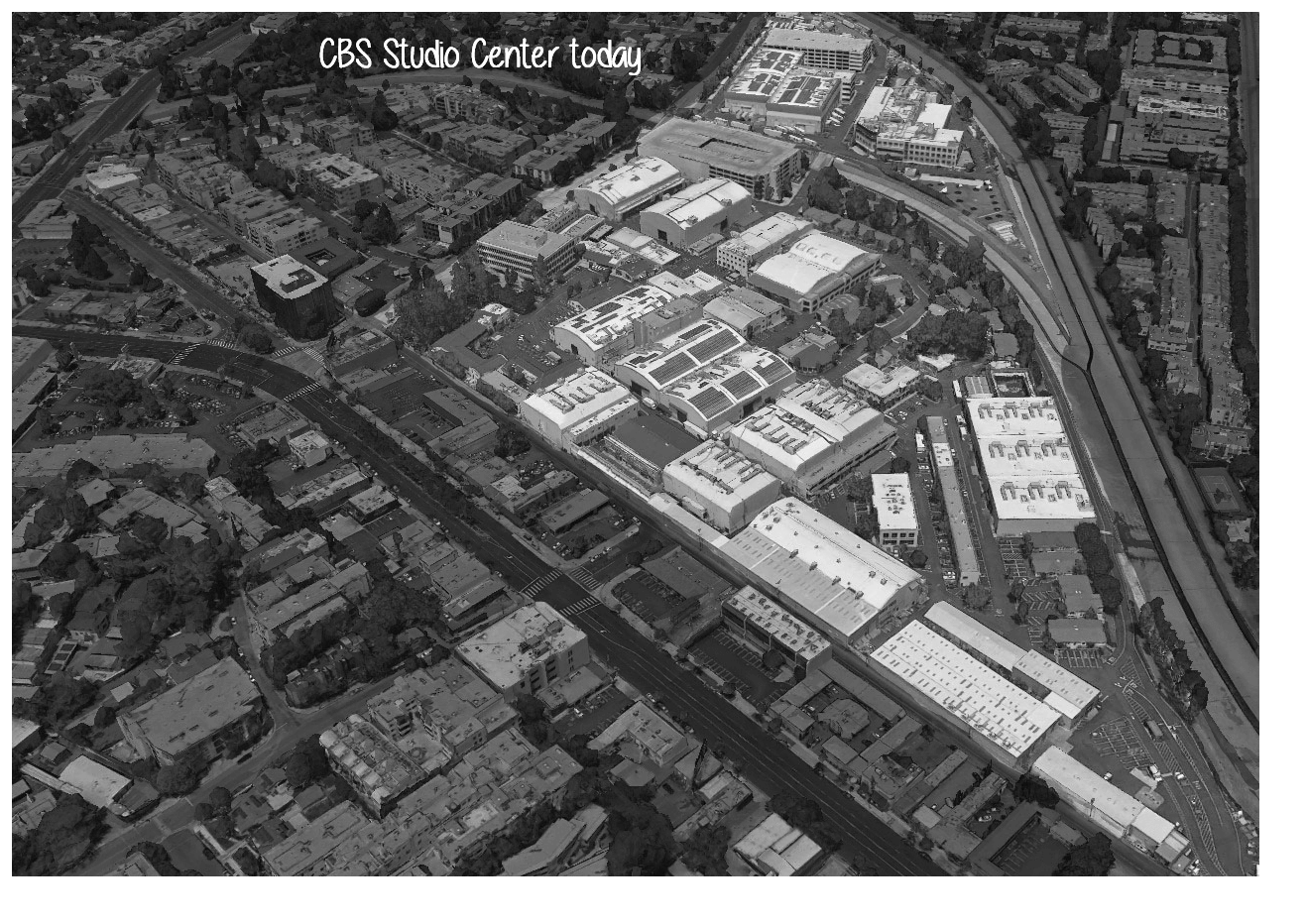 CBS Studio Center bird's eye