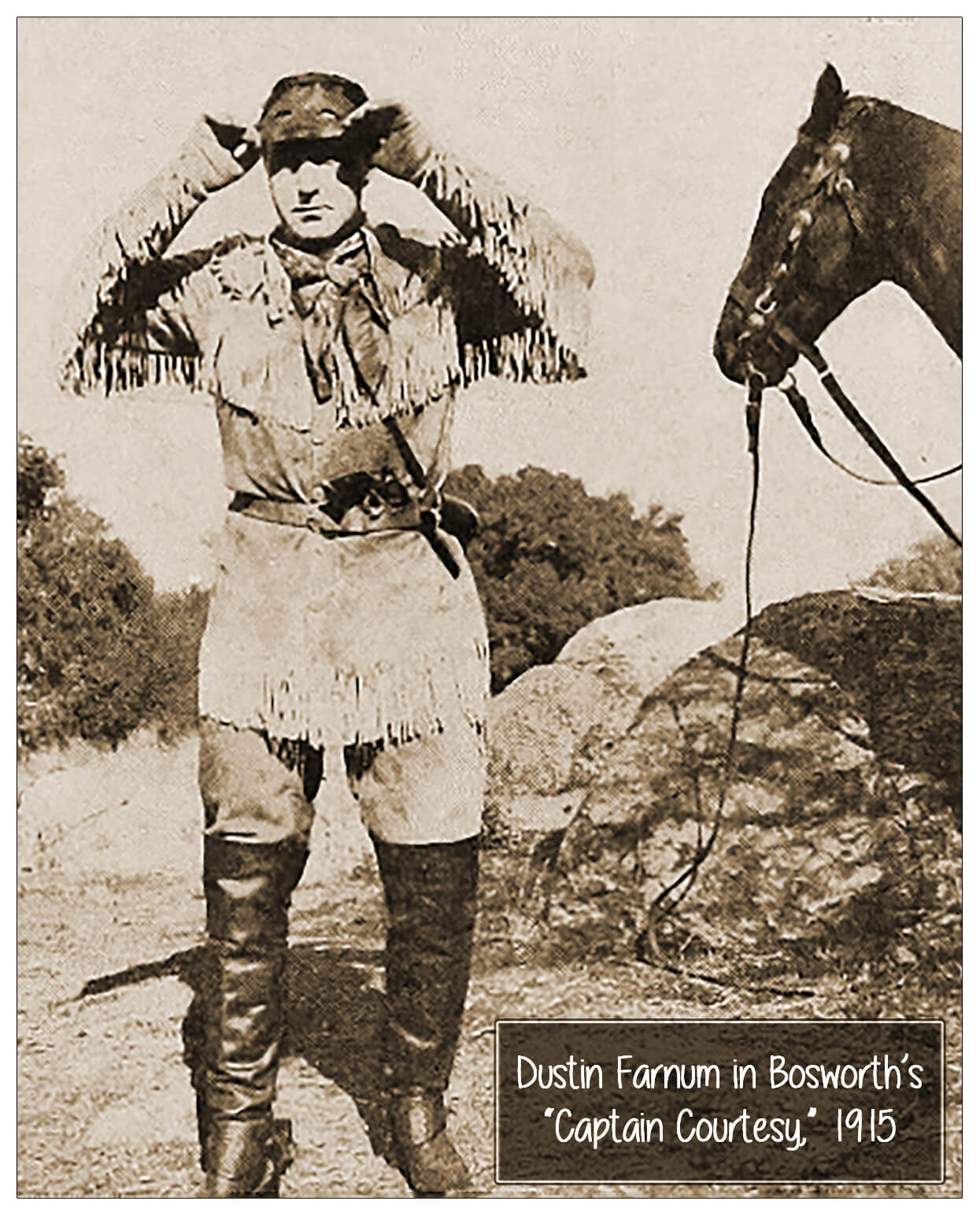 Dustin Farnum in Captain Courtesy for Bosworth, 1915 4x5